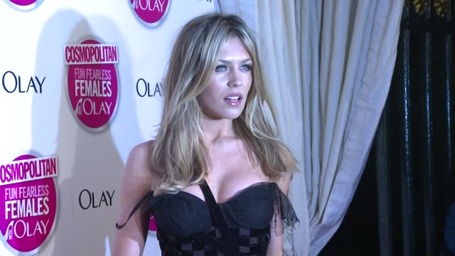Abigail Clancy at the Cosmopolitan Ultimate Women Of The Year Awards Arrivals at London England