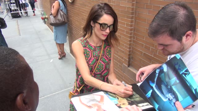 Abigail Spencer arrives at 'The View' Celebrity Sightings in New York on July 14 2015 in New York City New York