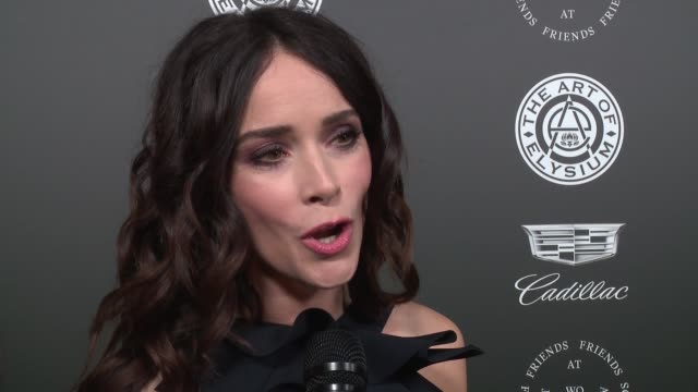 interview abigail spencer at the art of elysium's presents john legend's heaven at barker hangar on january 06 2018 in santa monica california - barker hangar stock videos & royalty-free footage