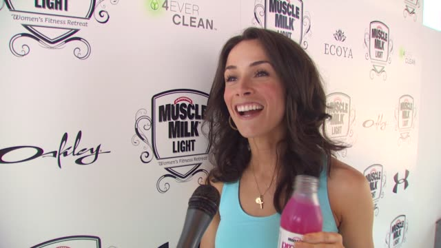 Abigail Spencer on what brings her out to the fitness retreat and how she keeps herself in shape at the Muscle Milk Women's Fitness Retreat at...