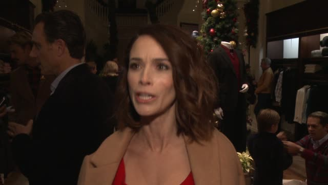 INTERVIEW Abigail Spencer on why she wanted to celebrate the holidays with Brooks Brothers and St Jude where she will be spending the holidays if her...