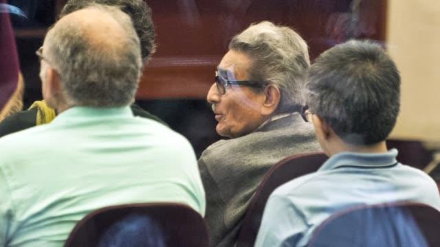 abimael guzman y cupula de sendero luminoso reaparecen en juicio en peru voiced : abimael guzman vuelve a juicio en peru on january 20, 2014 in lima,... - shining path stock videos & royalty-free footage