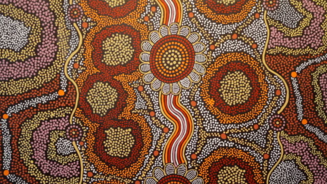ms tu aboriginal tiwi art / northern territory, australia - art stock videos & royalty-free footage