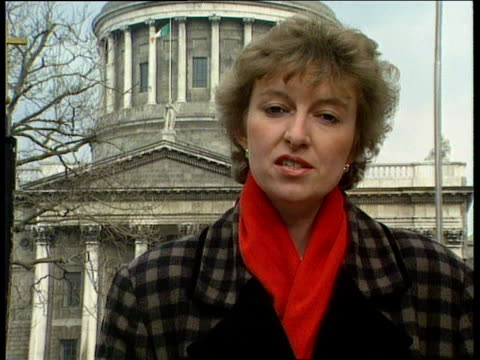 abortion law eire gv reflection of supreme court building dublin tilt up to gv of supreme court ms lawyer getting out of car ms lawyers into court... - abortion stock videos & royalty-free footage