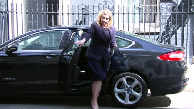 abortion law reforms in northern ireland are an issue for stormont says downing street lib / 952018 london downing street ext penny mordaunt mp out... - stormont stock videos and b-roll footage