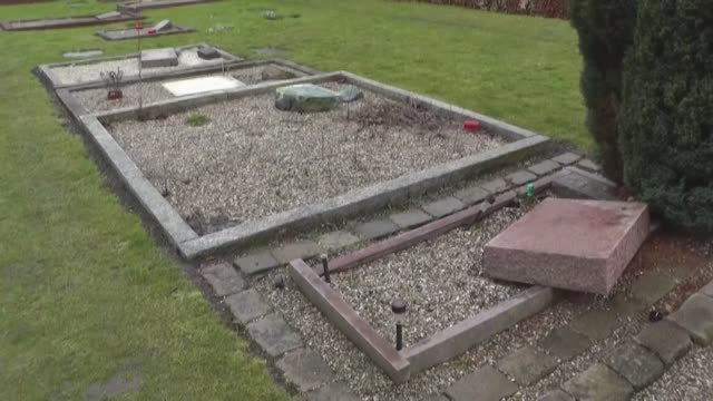 about 10 muslim graves have been vandalized by unidentified attackers at vestre cemetery in copenhagen denmark on february 27 2017 - oresund region stock videos & royalty-free footage