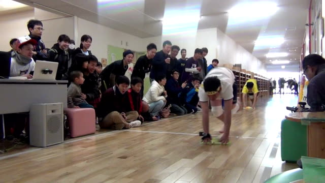 About 270 contestants competed in a rare floor wiping race in Japan on February 21 The floor wiping is a traditional educational menu for Japanese...