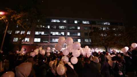 about 300 protesters stage a demonstration following the shooting of laquan mcdonald shot and killed by police officers 2 years ago, in front of the... - 2016 stock videos & royalty-free footage