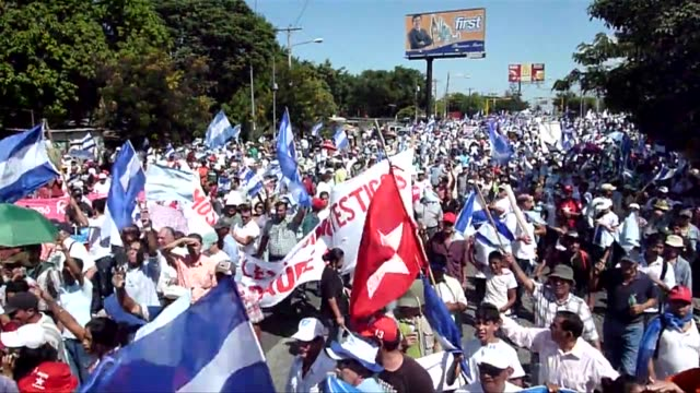 About 5000 people protested in Managua on Saturday against alleged electoral fraud which they said led to the reelection of Nicaraguan President...