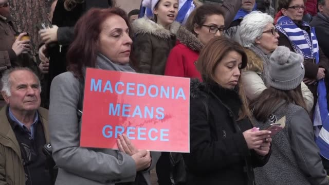 About 50000 people massed in the streets of northern Greece's biggest city Thessaloniki on Sunday in a protest over the Macedonia name dispute...