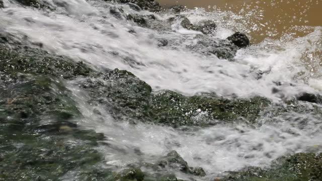 vídeos de stock, filmes e b-roll de acima fluindo cascata - curso de água