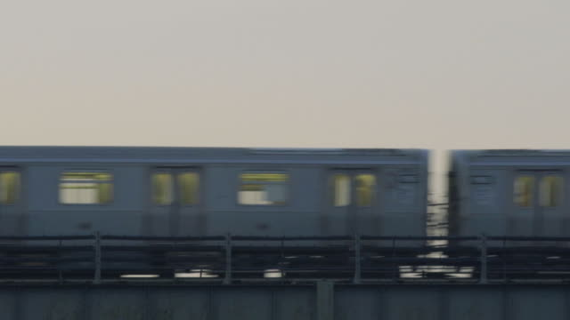 above ground new york train - new york city subway stock videos & royalty-free footage