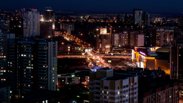 TL Above night view of the city / Russia, Novosibirsk