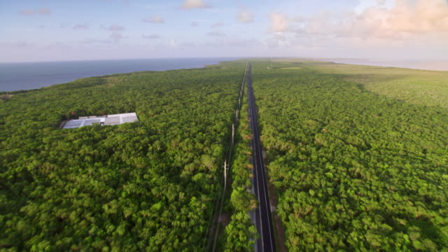 aerial above state road 905 on key largo, florida - florida us state stock videos & royalty-free footage