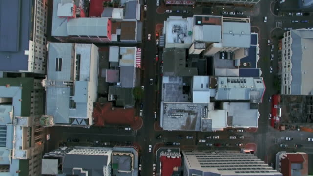above the cape town city streets - panning stock videos & royalty-free footage
