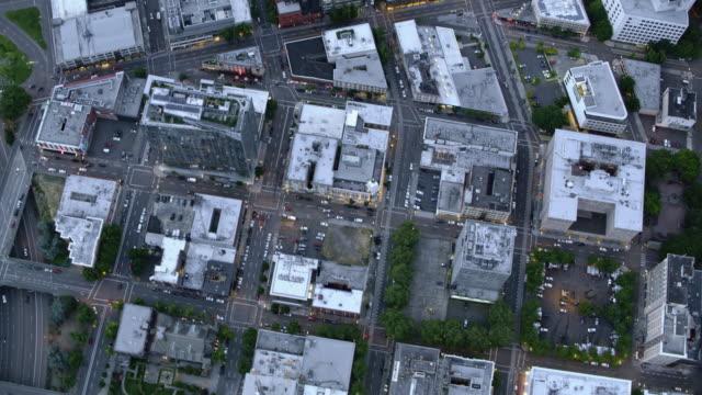 AERIAL Above the city of Portland, Oregon