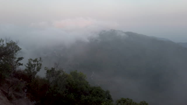 above the clouds and mountain - hill stock videos & royalty-free footage