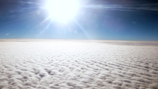 above the clouds from airplane - stratosphere stock videos & royalty-free footage