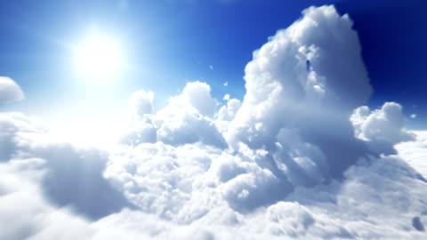 ovanför molnen - perfekt loop - i luften bildbanksvideor och videomaterial från bakom kulisserna