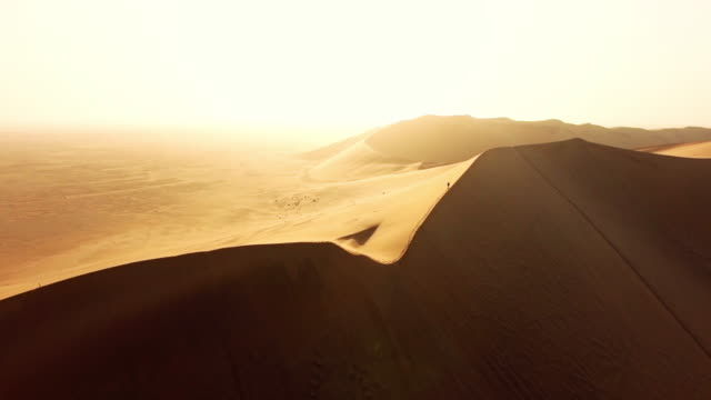above the namibian desert - namibian desert stock videos and b-roll footage