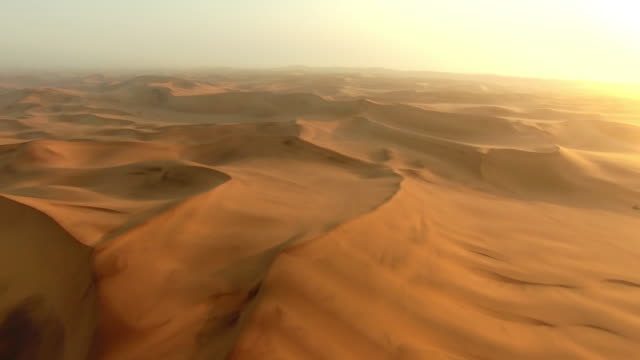 Above the shifting sands of the Namibian Desert