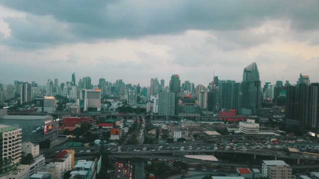 above town city streets - hovering stock videos & royalty-free footage