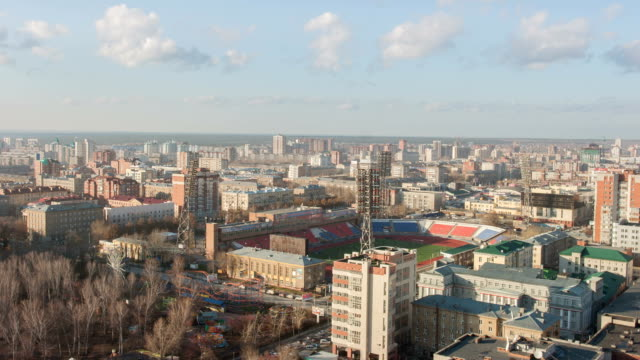 TL Above view of the Spartak Stadium / Russia, Novosibirsk