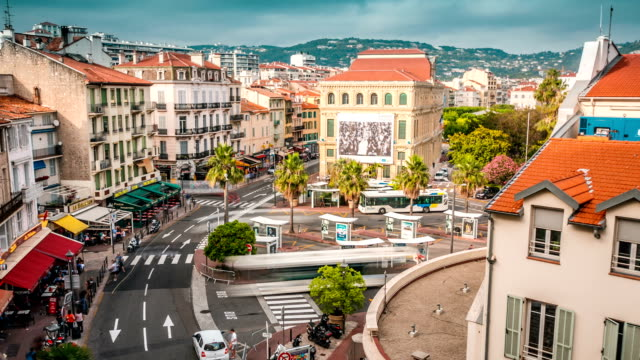 tl above view on the cannes citylife / france, cannes - cannes stock videos & royalty-free footage