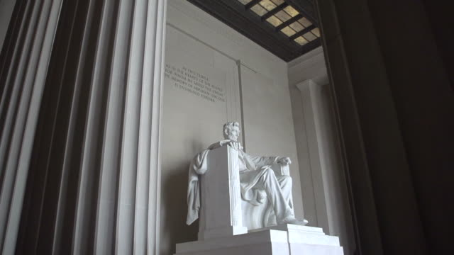 abraham lincoln in washington, dc - lincolndenkmal stock-videos und b-roll-filmmaterial