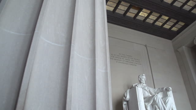 abraham lincoln denkmal in washington, d.c. - lincolndenkmal stock-videos und b-roll-filmmaterial