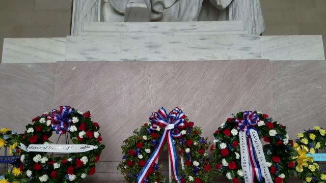 Abraham Lincoln Statue inside the Lincoln Memorial in Washington, DC