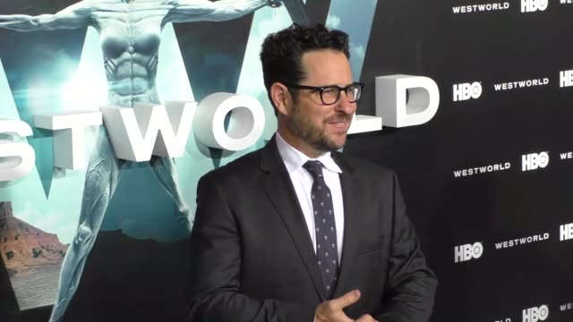 stockvideo's en b-roll-footage met abrams at the hbo premiere of westworld at tcl chinese theatre in hollywood in celebrity sightings in los angeles, - tcl chinese theatre