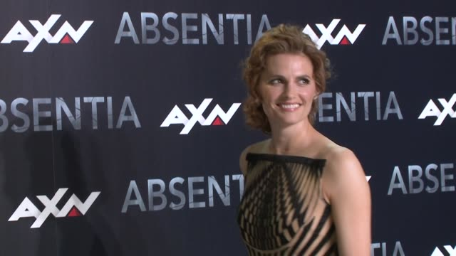 absentia madrid premiere with actress stana katic - stana katic stock videos and b-roll footage