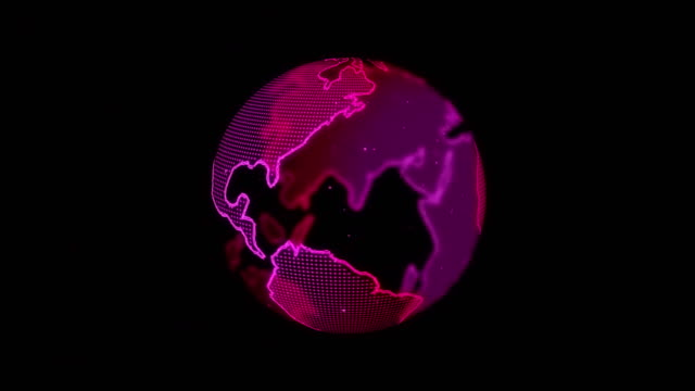 abstarct digital spinning world map - spinning stock videos & royalty-free footage
