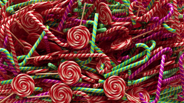 abstract 3d background of caramel candy canes - candy cane stock videos & royalty-free footage