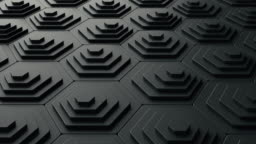 Abstract 3d black background animation in the form of pentagon shapes