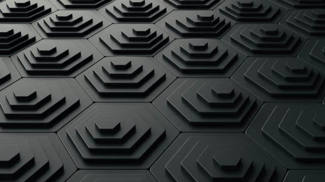 abstract 3d black background animation in the form of pentagon shapes - the pentagon stock videos & royalty-free footage