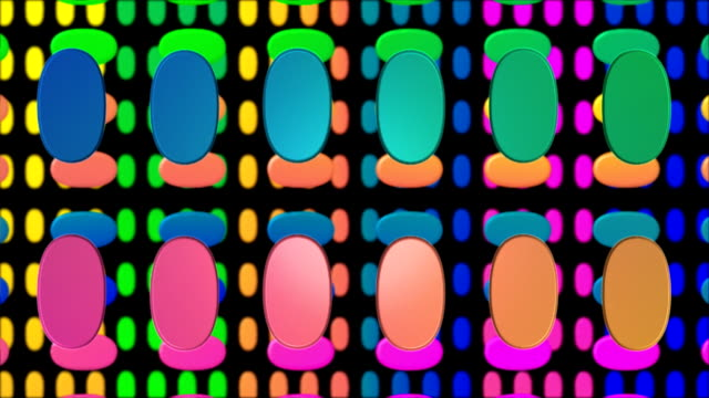 abstract 3d colored ovals in motion background hd - color block stock videos and b-roll footage