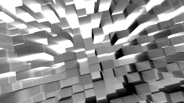 Abstract 3D cube blocks with shinning light, Blank city and tower concept