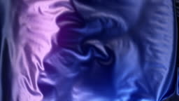 Abstract 3d rendering blue metallic cloth animation background