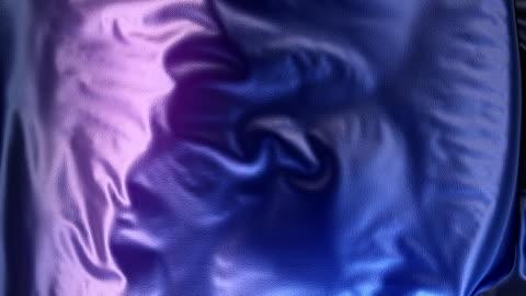 抽象的な 3 d レンダリングの青い金属布アニメーション背景 - 絹点の映像素材/bロール