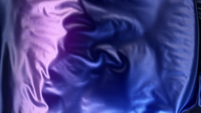 3d Rendering blau metallic Tuch Animation Hintergrund abstrakt