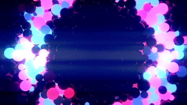 abstract 3d rendering of pink and blue chaotic motion spheres - geometry stock videos and b-roll footage