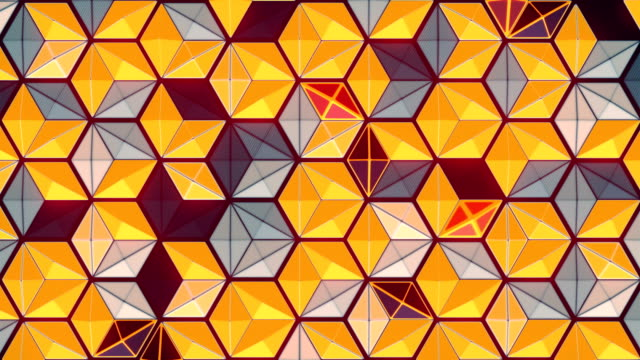 abstract 3d rendering pattern loop animation. geometric background texture. multi colored art concept design. 4k, uhd - decorative art stock videos & royalty-free footage