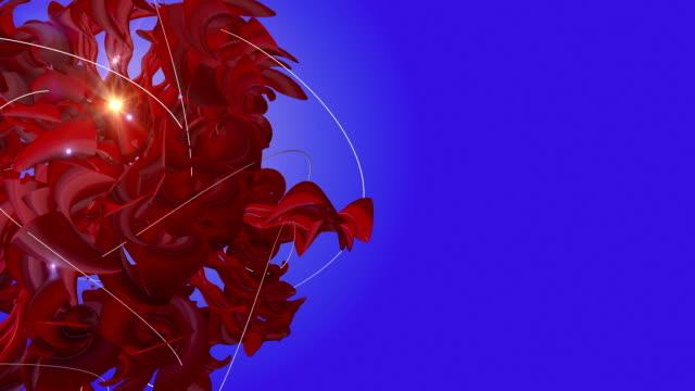 vídeos y material grabado en eventos de stock de abstracto 3d forma girando sobre un fondo azul - diseño natural