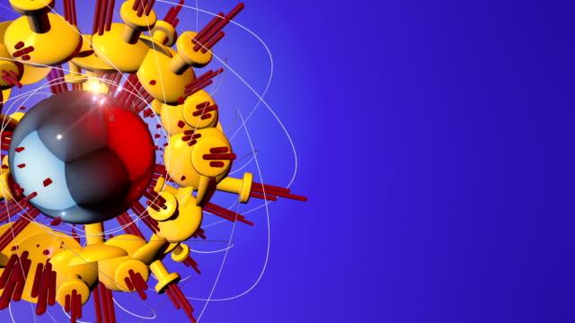 Abstrakt 3D Form wechselnden auf einem blauen Hintergrund