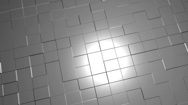Abstract 3D square blocks floor with lighting