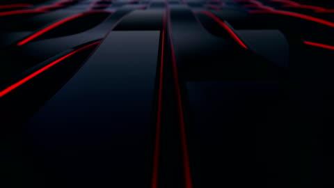 vídeos y material grabado en eventos de stock de abstract 4k fondo sin costuras bucle de curvas de acero y textura con reflejo de la luz animada y el entorno. agitando la luz reflectante. (loopable) - aluminio