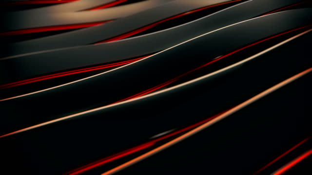 abstract 4k background seamless loop of steel curves and texture with reflection of animated light and environment. waving reflecting light. (loopable) - aluminium stock videos & royalty-free footage