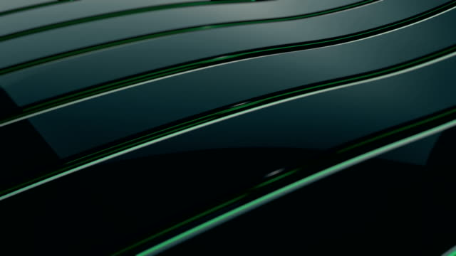 abstract 4k background seamless loop of steel curves and texture with reflection of animated light and environment. waving reflecting light. (loopable) - abstract background stock videos & royalty-free footage
